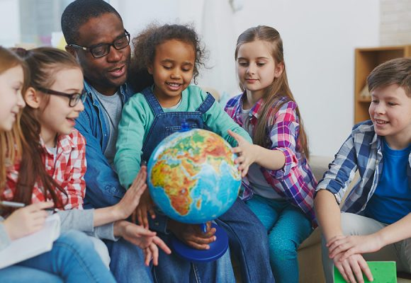 New School Globes for  Pupils